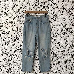 Brandy Melville Distressed Light Wash Jeans